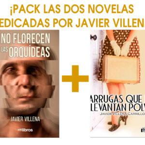 """Pack """"No florecen las orquídeas"""" + """"Arrugas que no levantan polvo"""", con la dedicatoria de puño y letra de el autor, Javier Villena Carrillo"""