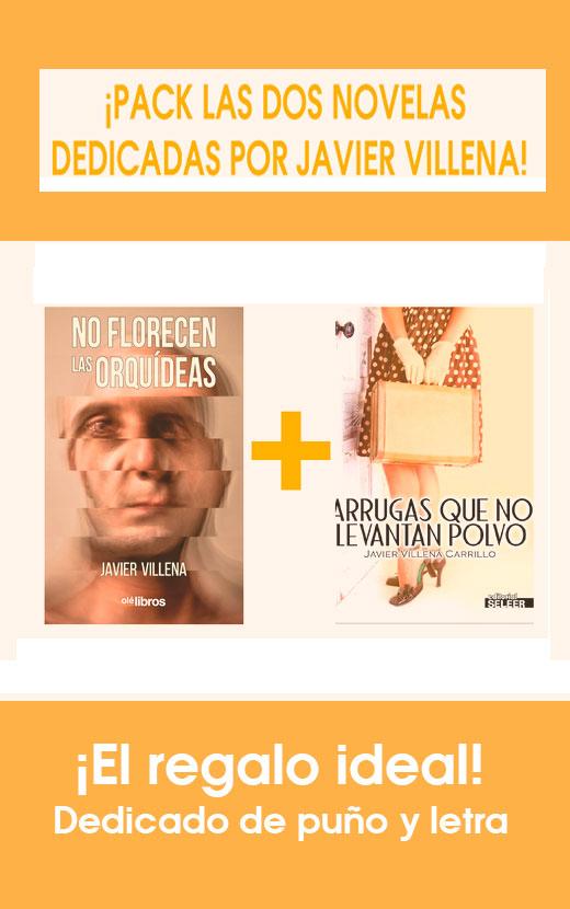 """Pack """"No florecen las orquídeas"""" + """"Arrugas que no levantan polvo"""", con la dedicatoria de puño y letra de el autor, Javier Villena Carrillo, ¡el regalo ideal!"""